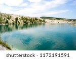 bright blue water in the lake... | Shutterstock . vector #1172191591