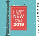 happy new year 2019 card.... | Shutterstock .eps vector #1172191951