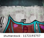 canvas with hand drawn abstract ... | Shutterstock . vector #1172193757