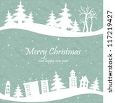 christmas card with the shape...   Shutterstock .eps vector #117219427
