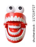 chattering teeth on white...   Shutterstock . vector #117219727