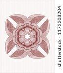 red rosette. linear... | Shutterstock .eps vector #1172203204