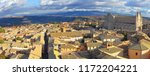 orvieto  large aerial view of... | Shutterstock . vector #1172204221