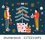 christmas greeting card with... | Shutterstock .eps vector #1172211691