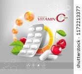 supplements or nutritional... | Shutterstock .eps vector #1172213377