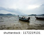 fisherman boat parking on the...   Shutterstock . vector #1172219131