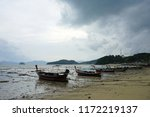 fisherman boat parking on the...   Shutterstock . vector #1172219137