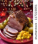 Christmas Meat With Potato For...