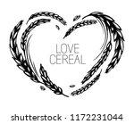 wheat or malt heart frame on... | Shutterstock .eps vector #1172231044