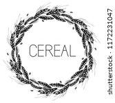wheat  rye  barley and malt... | Shutterstock .eps vector #1172231047