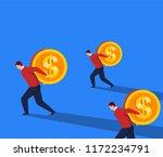 businessman is walking hard...   Shutterstock .eps vector #1172234791