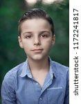 photo of adorable young boy  | Shutterstock . vector #1172241817