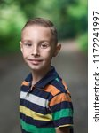 photo of adorable young boy  | Shutterstock . vector #1172241997