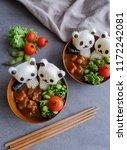 homemade japanese cuisine  ... | Shutterstock . vector #1172242081