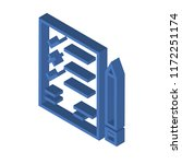 list isometric left top view 3d ... | Shutterstock .eps vector #1172251174