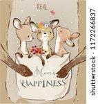 mom kangaroo with little kids... | Shutterstock .eps vector #1172266837