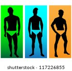 the silhouettes of men models... | Shutterstock .eps vector #117226855