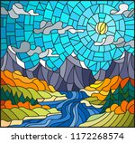 illustration in stained glass... | Shutterstock .eps vector #1172268574
