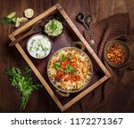 tasty and delicious prawns... | Shutterstock . vector #1172271367