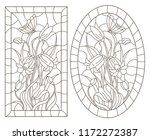 a set of contour illustrations... | Shutterstock .eps vector #1172272387
