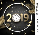 grey 2019 happy new year... | Shutterstock .eps vector #1172275264