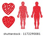 this human being is made up of... | Shutterstock .eps vector #1172290081