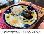 favorite breakfasts of... | Shutterstock . vector #1172291734