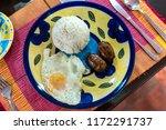 favorite breakfasts of... | Shutterstock . vector #1172291737