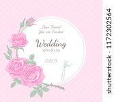 wedding invitation at vintage... | Shutterstock .eps vector #1172302564