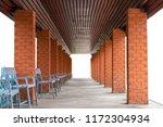 isolate rows of pillar bricks... | Shutterstock . vector #1172304934