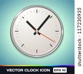 vector clock icon | Shutterstock .eps vector #117230935