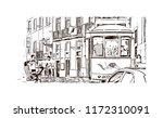 landmark building view of... | Shutterstock .eps vector #1172310091