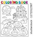 coloring book halloween...   Shutterstock .eps vector #1172312587