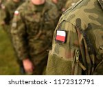 polish patch flag on soldiers... | Shutterstock . vector #1172312791