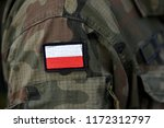 polish patch flag on soldiers... | Shutterstock . vector #1172312797