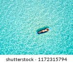 blonde vacations woman in... | Shutterstock . vector #1172315794