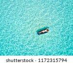 blonde vacations woman in... | Shutterstock . vector #1172315794