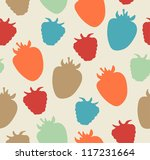 seamless berries pattern.... | Shutterstock .eps vector #117231664