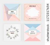 geometric social media banner.... | Shutterstock .eps vector #1172317654