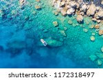 aerial view of a rib boat with... | Shutterstock . vector #1172318497