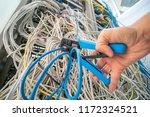technician repair ethernet... | Shutterstock . vector #1172324521