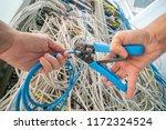 technician repair ethernet... | Shutterstock . vector #1172324524