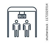bus stop icon vector isolated...   Shutterstock .eps vector #1172325514