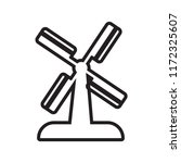 wind mill icon vector isolated... | Shutterstock .eps vector #1172325607