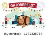 men in traditional bavarian... | Shutterstock .eps vector #1172325784