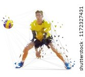 volleyball player  isolated... | Shutterstock .eps vector #1172327431