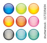 illustration of coloured glossy ... | Shutterstock . vector #117235654