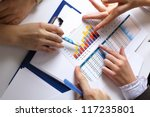 financial paper charts and... | Shutterstock . vector #117235801