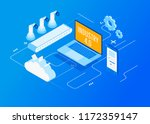isometric factory automation ... | Shutterstock .eps vector #1172359147