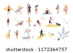 beach people summer set1 | Shutterstock . vector #1172364757